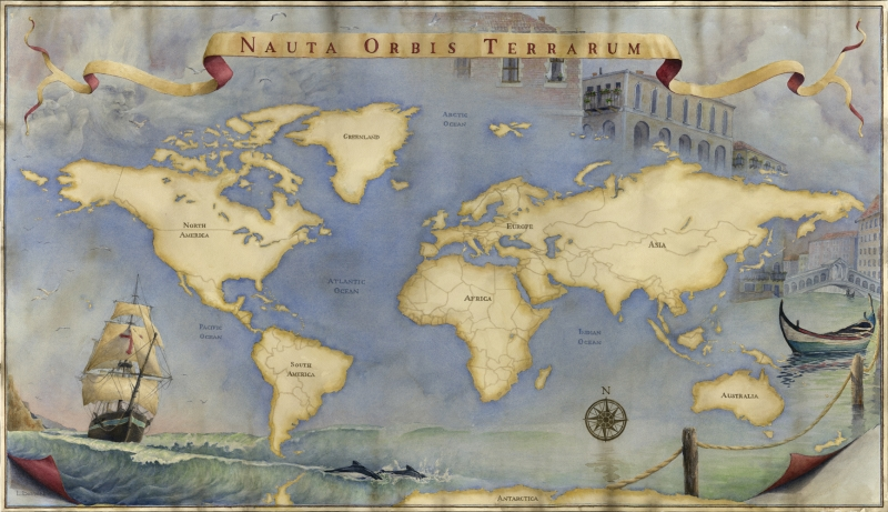 New old world map limited editions all artwork laine dobson new old world map limited editions all artwork laine dobson fine art world gumiabroncs Images