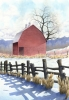 Red Barn in Spring                             by Laine Dobson